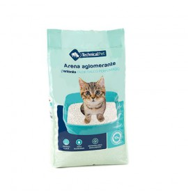 Arena de Bentonita Aglomerante para Gatos aroma talco Technical Pet 11.5 kg