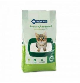 Arena de Bentonita Aglomerante para Gatos aroma Natural Technical Pet 11,5 kg